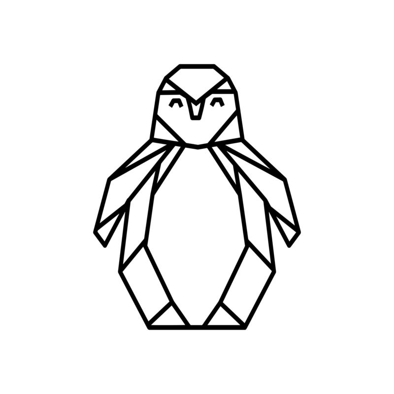 Meerdere kleuren: Pinguin (30 cm)