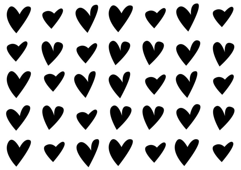 Meerdere kleuren: speelse hartjes