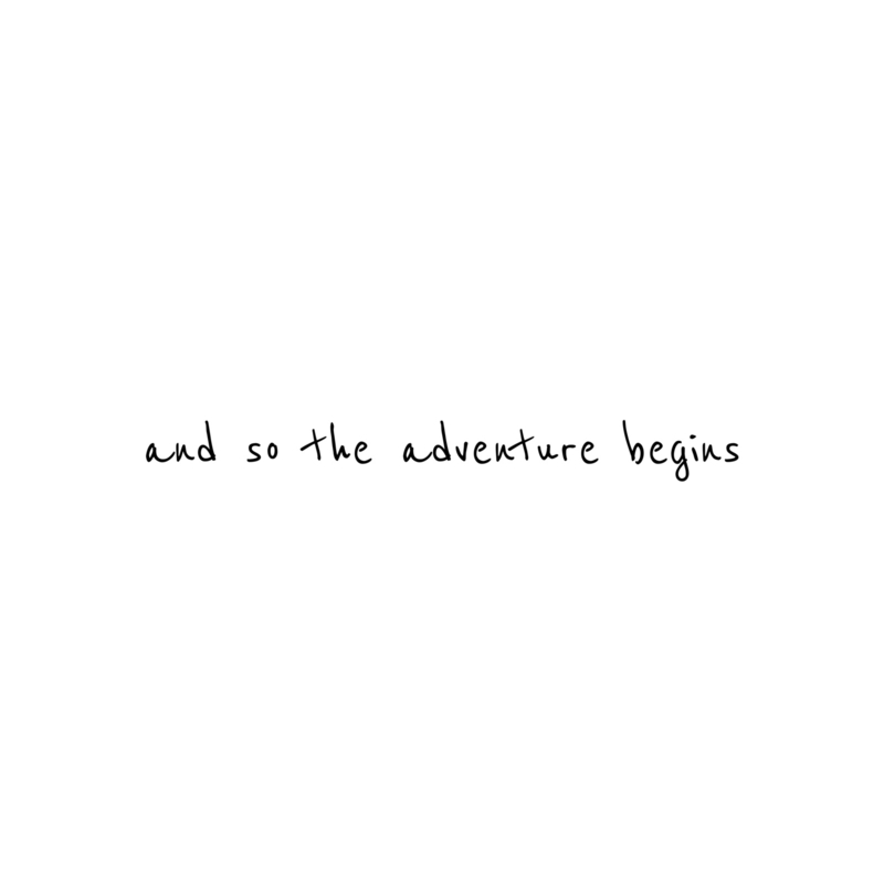 Meerdere kleuren: and so the adventure begins