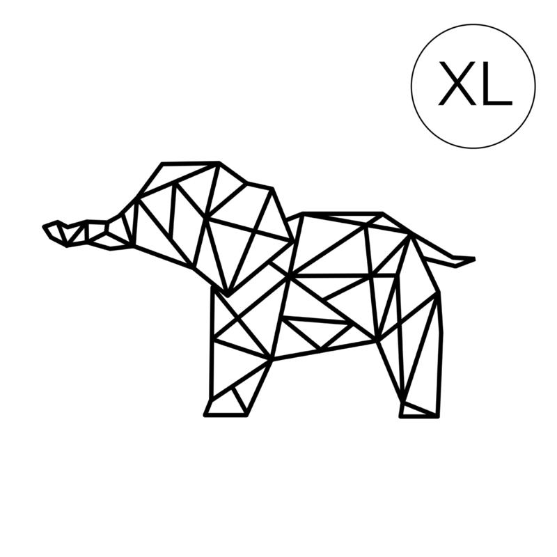 Meerdere kleuren: Olifant XL ( 69cm bij 120cm) slurf vooruit
