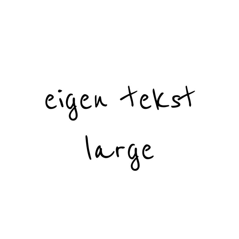 eigen tekst - lettertype Boris - LARGE