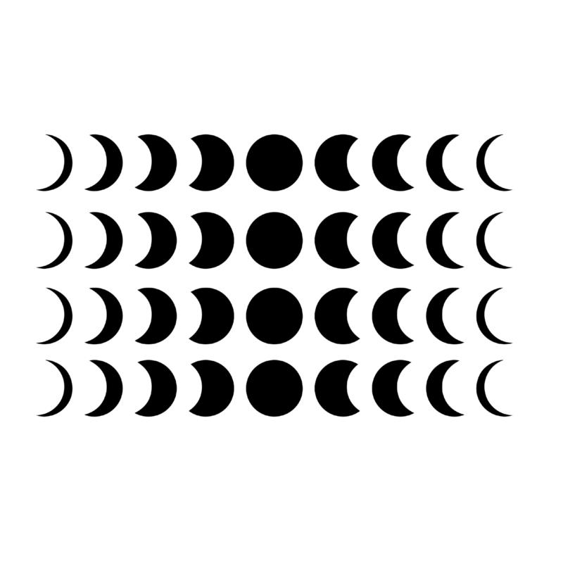 Meerdere kleuren: Maan fases