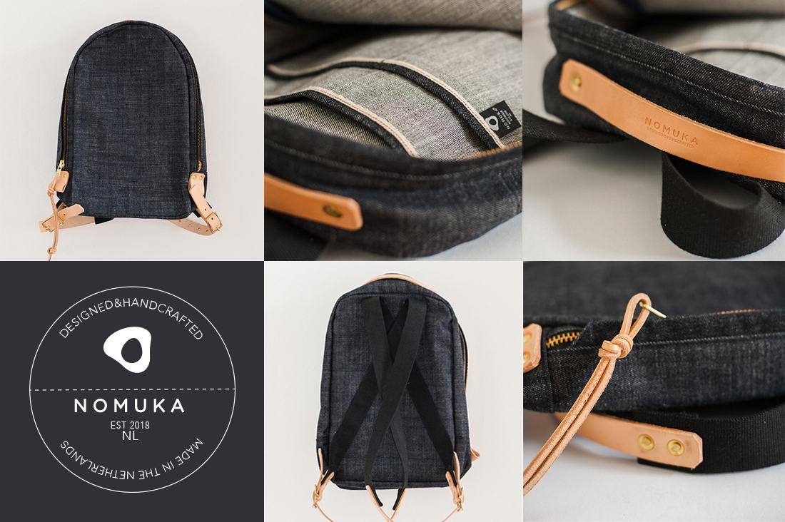 backpack rugtas denim nomuka