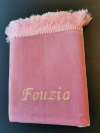 Roze Gebedskleed met naam Fouzia