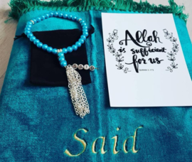 Gebedskleed turquoise