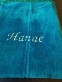 Turqoise Gebedskleed met naam Hanae