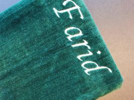 Groen Gebedskleed met naam Farid