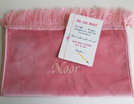 Kindergebedskleed roze
