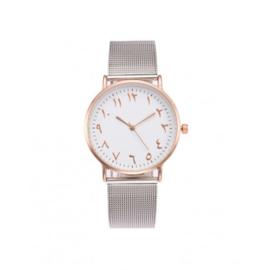 Arabisch horloge rozegold-zilver
