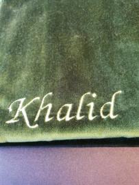 Groen Gebedskleed met naam Khalid