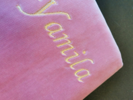 Roze Gebedskleed met naam Yamila