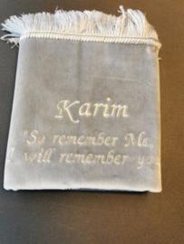 Gebedskleed met naam karim