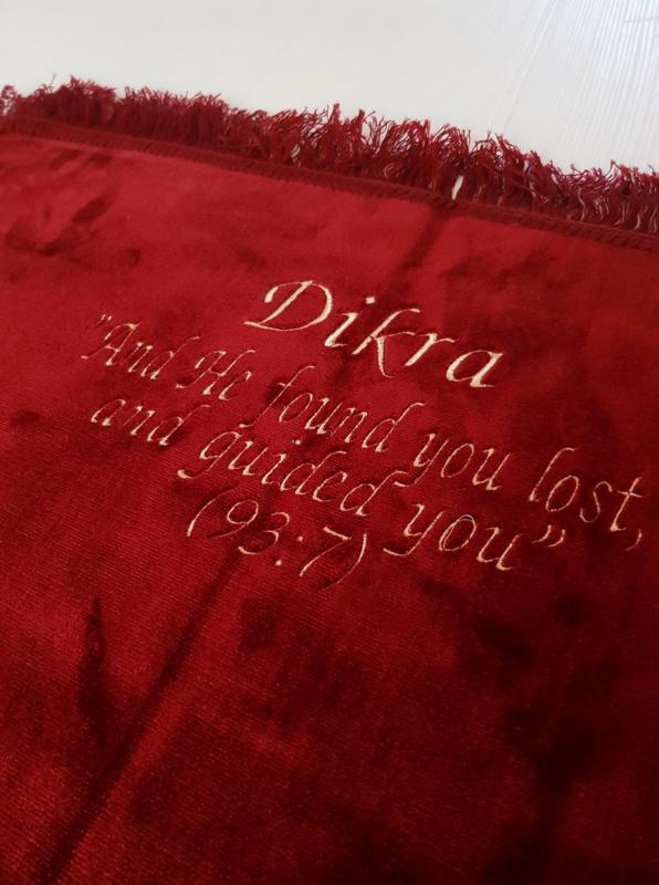 Gebedskleed bordeaux rood