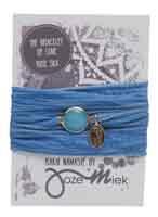 Rakhi zijden armband namaste snorkel bleu