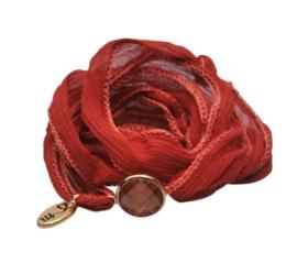 Rakhi zijden armband cassablanca red