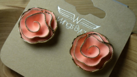 clip fatasiebloem peach/goud  Wings Byou