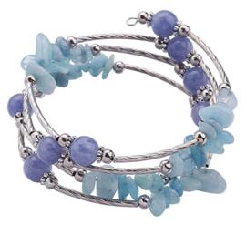 armband 4loups bleu gemstone Zhen Zhu