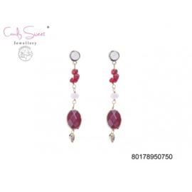 oorbellen met steentjes  CandySweet Jewellery