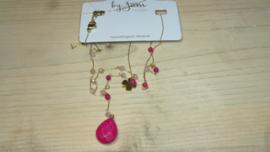 rood /fuchsia collier By Jam gioelli