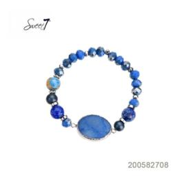 armbandje met agaat blauw Sweet7