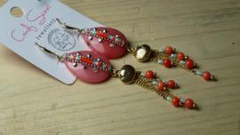 rose oorbellen  CandySweet Jewellery