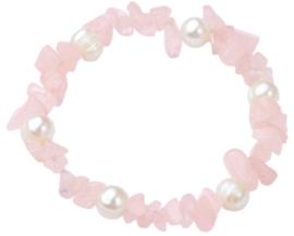 armband pearl rose