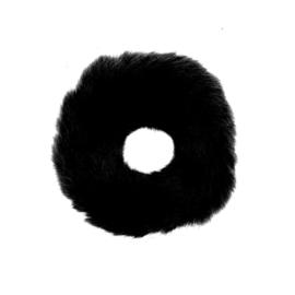 bont scrunchie zwart
