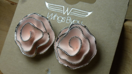 clip fatasiebloem roze/rhodium Wings Byou