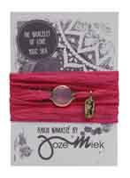 Rakhi zijden armband rose goud