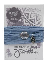 Rakhi zijden armband serenity bleu silver