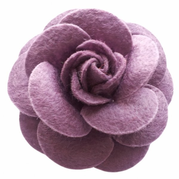Urban Hippies corsage haarclip taupe 5 cm