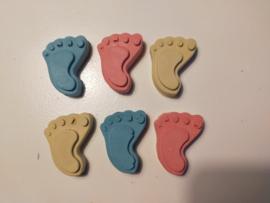 Stoepkrijt voetjes
