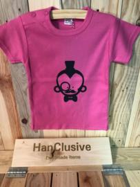 Roze t-shirt met aap maat 80