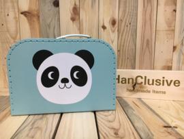 Blauw koffertje met panda
