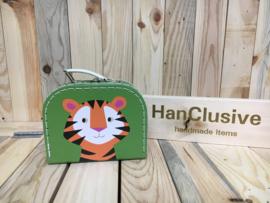 Groen koffertje met tijger