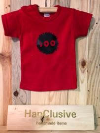 Rood t-shirt boo maat 68