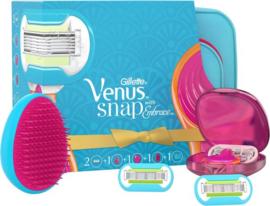 Gillette Venus Snap - Giftpack (Scheermes + Scheermesje + Reisetui + Haarborstel + Reistasje) - Scheermes