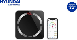 Hyundai – Personenweegschaal - Lichaamsanalyse – Basic met Bluetooth - Zwart