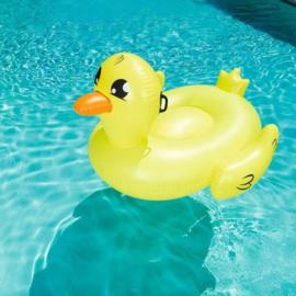 Opblaasbare eend - Bestway - Zwembad - Geel