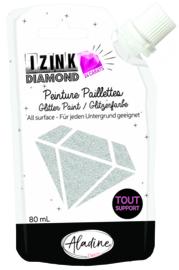 IZINK Diamond glitterverf/pasta 24 karaat- 80 ml, zilver