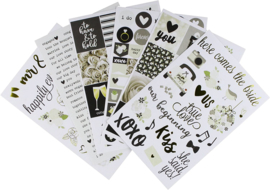 Simple Stories Always & Forever 4x6 Stickers 10075