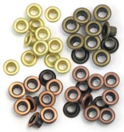 We R Memory Keepers Warm Metal Crop-A-Dile Standard Eyelet  (60pcs)