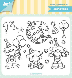 Joy! Crafts Clearstempel - Jocelijne - Jasper Bear 6410/0516 110x83 mm