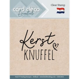 Card Deco Essentials CDECS015  - Clear Stamps - Kerst Knuffel