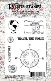 Around the globe stempel A7 - 13Arts - set Travel the world