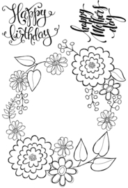 Woodware - Posy Ring - Clear Magic Stamp Set