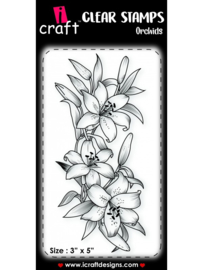 iCraft - Clear Stempel - Orchids