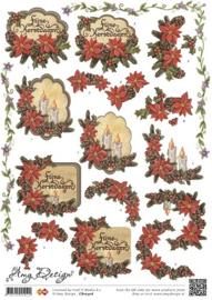 3D Knipvel - Amy Design - Kerst bloemen CD10306