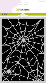 CraftEmotions Mask stencil Halloween spinnenweb A5 Carla Creaties