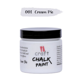 icraft chalk paint 50ml cream pie 001